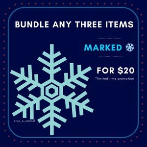 3 items for $20 ❄️
